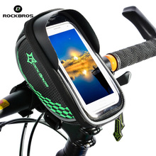 ROCKBROS Sport Bike Bicycle Front Bag 5.8'' Touchscreen For Mobile Phone Cycling Bags MTB Mountain Road Bicycle Accessories