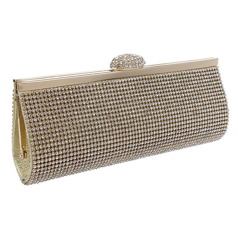 Full rhinestones women evening bags clutch purse handbags silver/golden/black color for wedding bridal luxurious evening bag<br><br>Aliexpress