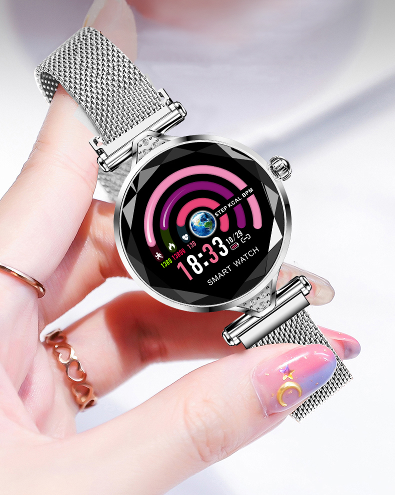 H1 Women Fashion Smartwatch Wearable Device Bluetooth Pedometer Heart Rate Monitor Smart Watch For AndroidIOS Smart Bracelet (17)