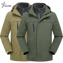 Military jacket men's thickening casual Parkas warm collar winter hooded brand coat parkas Two-Cotton clothing jpd-2169 - team 2 store