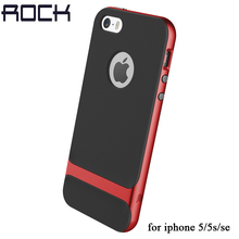 ROCK Royce Series phone case For iPhone 5 5S Se Luxury Slim Armor cover shell Back Cover Hard PC+Soft TPU Case Cover