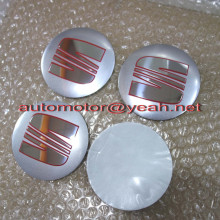 56.5mm 60mm 90mm 3D Aluminum silver SEAT Car Wheel Emblem Badge Logo Stickers For SEAT Ibiza Leon Alhambra Altea Exeo