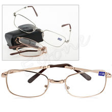 2017  Hot Folding Metal Reading Glasses +1.0 1.5 2.0 2.5 3.0 3.5 4.0 Diopter + Case MAR20_15