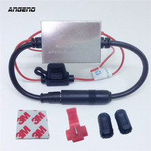 FM Signal Amplifier Anti-interference Metal Car Antenna Radio Universal Auto FM Booster Amp 88-108 Mhz 12V