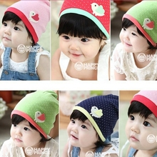 Soft Newborn Girl Kid Infant Baby Beanie Hat Cartoon Bird Print Decro Cap(China)
