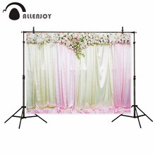 Allenjoy photography backdrop Flowers romantic curtains welcome wedding background newborn original design for photo studio(China)
