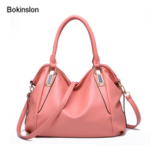 New 2017 Classic Handbag Women PU Leather Casual Womens Crossbody Bags Fashion Solid Color Women's Handbags Brand Name