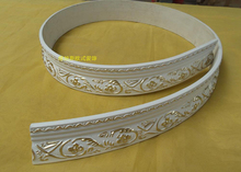European-style curved ceiling decoration soft PU moulding wall 4.6cm x 1.2cm x 300cm(China)