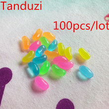 Tanduzi Wholesale Plastic Jelly Beans Simulation Food Mini Jelly Candy Deco Parts DIY Dollhouse Miniature Decoration PVC Crafts(China)