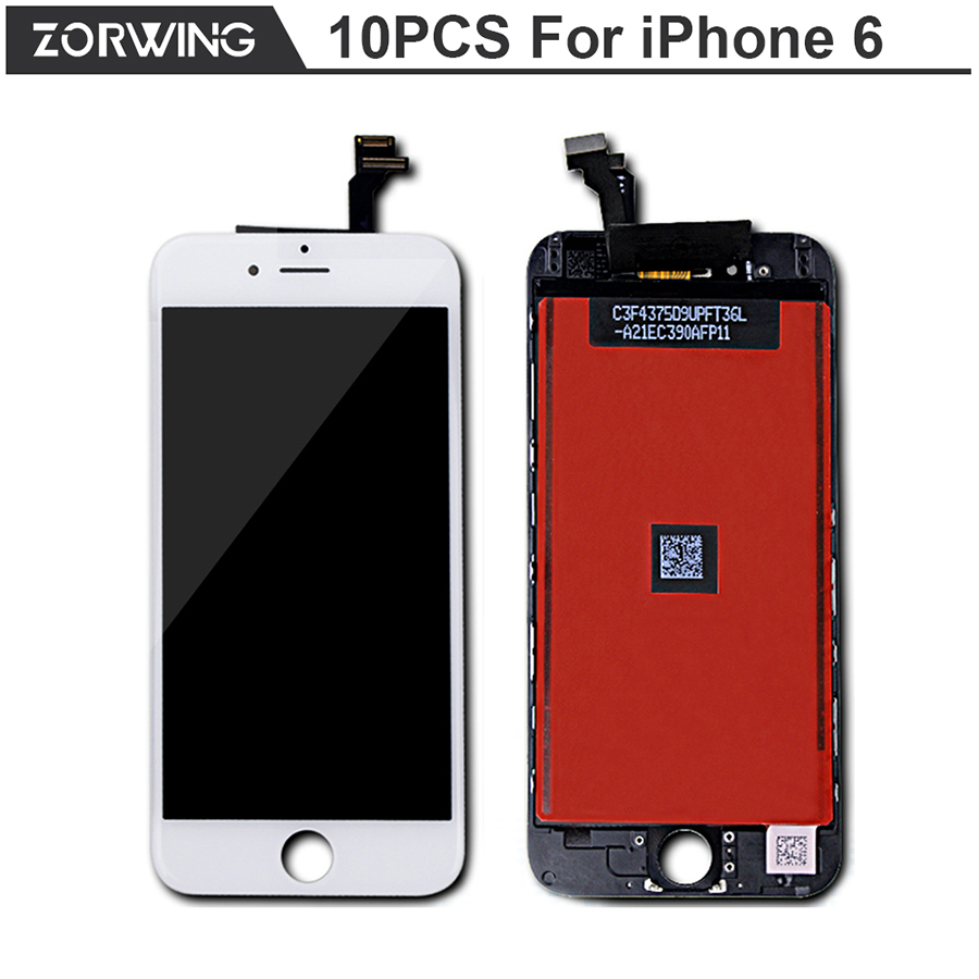 10PCS/LOT No Dead Pixel Guarantee 4.7 inch LCD Screen For iPhone 6 Display With Digitizer Touch Screen Replacement<br><br>Aliexpress