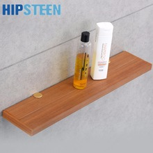 HIPSTEEN Wooden Bathroom Storage Rack Wall Hanging Commodity Shelf for Bedroom Kitchen - Burlywood