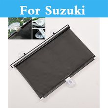 Car Sun Visor Window Curtain Covers Sunshade For Suzuki Swift SX4 Twin Verona Ignis Jimny Kei Kizashi Liana Reno Splash(China)