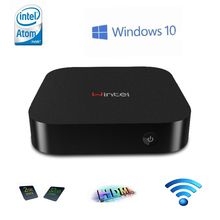 Wintel CX-W8 Mini PC TV Box with Windows10 Intel Atom Z3735F CPU 2GB RAM 32GB ROM Pocket PC Free Shipping(China)
