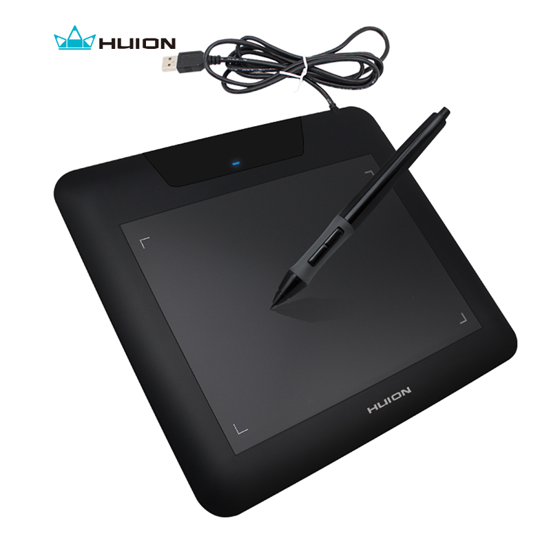 Huion 8x 6 Inches 4000LPI 200PRS 2048 Pen Sensitivity Graphics Drawing Pen Tablet + Battery Pen Compatible With Windows Mac 680S<br>