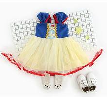 Blue Snow White Baby Costumes Lace Petti Romper Dress 1st Birthday Outfits Jumpsuit Newborn Baby Girl Clothes Infant Clothing