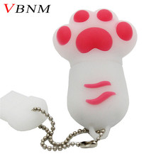 VBNM wholesale 6 colors cute Bear claw memory stick pen drive lovely paw usb flash drive 4GB 8GB 16GB 32GB cartoon gift(China)