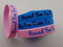 500pcs a lot custom writing caoutchouc silicone bracelets named rubber wristbands personal armbands EG-WBP001 with solid design(China)