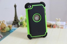 For Touch 4 Case Armor Heavy Duty Hard Cover Case For iPod Touch 4 4G SILICONE Protective SKIN Shock Proof Free Shipping
