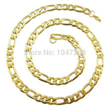 "Custom Size 6mm 8mm size 20"" - 36"" Long Women And Men Necklaces Jewelry Stainless Steel Figaro Chain Fashion Jewelry"