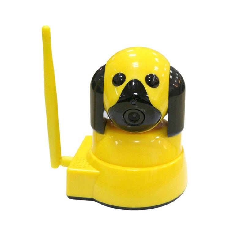 720P Baby Monitor Smart Home Wireless Security Dog Camera IP Camera WiFi CCTV Surveillance Camera Night Vision Indoor,Yellow<br>