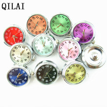 wholesale mix color Watch snap button charms 18mm lot fit snap button jewelry bracelet(China)