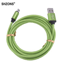 1m 2m 3m 25cm Nylon Braided USB Charging Cable Sync Data Cord for iPhone 5 5s 5c SE 6 6s 7 Plus for iPad mini 2 3 4 Air 2 Cable