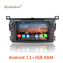 new Android 7.1 4 quad Core 2GB RAM GPS map Radio TV BT DVR camera Car DVD multimedia Player for Toyota RAV4 2013 2014 2015 2016