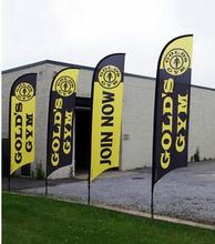 Custom Feather Flags 300X70cm One side Feather Flags with Ground spike (printing one side,  other sided in a reverse image)