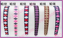free freight 120pcs 3/4'' Ribbon Woven Headband braid headbands ribbon wraped headbands