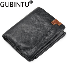 FLYBIRD Men 3 Fold Wallet Fashion Multifunctional Card Holder Genuine Cow Leather Male Business Magic Wallets(China)