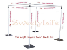 Wedding square canopy/chuppah/arbor drape stand wedding props,wedding square pipe,wedding backdrop stand(China)