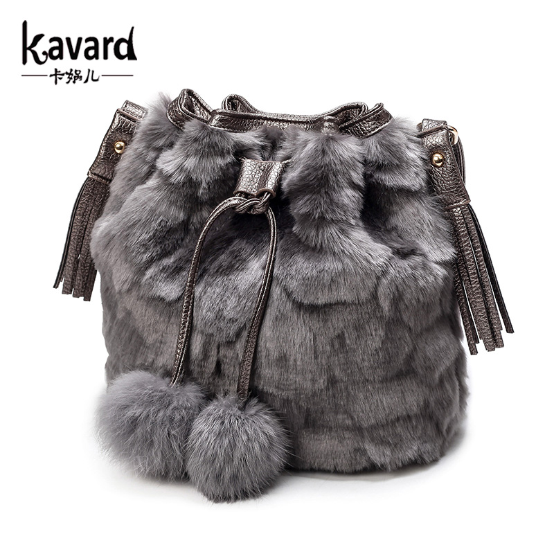 Kavard famous brand Spanish faux fur bucket bag 2016 luxury handbags women bags designer sac a main femme de marque Leopard BAGS<br><br>Aliexpress