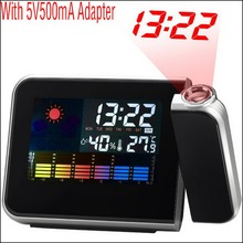 by DHL or EMS 30 pcs Digital Weather LCD Clock Snooze Alarm Clock Color Display Backlight Table Desktop Clocks Projector(China)