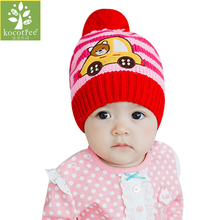 2017 Autumn Winter Warm Baby Hats Baby Cap For Children Winter Knitted Hat Kids Brand Boy Girls Hat Casquette For 0-3 Years Old(China)