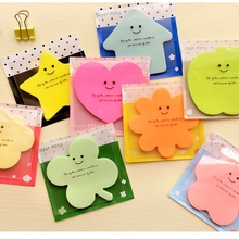 Mix 2pcs Cute Korean Kawaii Start Apple Post It Planner Stickers Memo Pad Sticky Notes Pads Stationery School Office Supplies