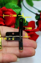 Hardware accessories hinge 22MM*28MM gift box fixed button small hinges