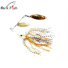 WALK FISH 1Pcs 16g Spinner Fishing Lure Spoon Fresh Water Spinnerbait lures Shallow Water Buzzi Bait Minnow Casting Trolling