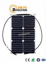 Boguang 2pcs 18W 20V flexible solar panel sunpower 125*125mm charging 12V battery forb yacht marine(China)