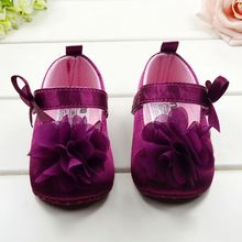 High Quality  Very Cute Flower Princess soft baby shoes for girl baby shoe 3 size