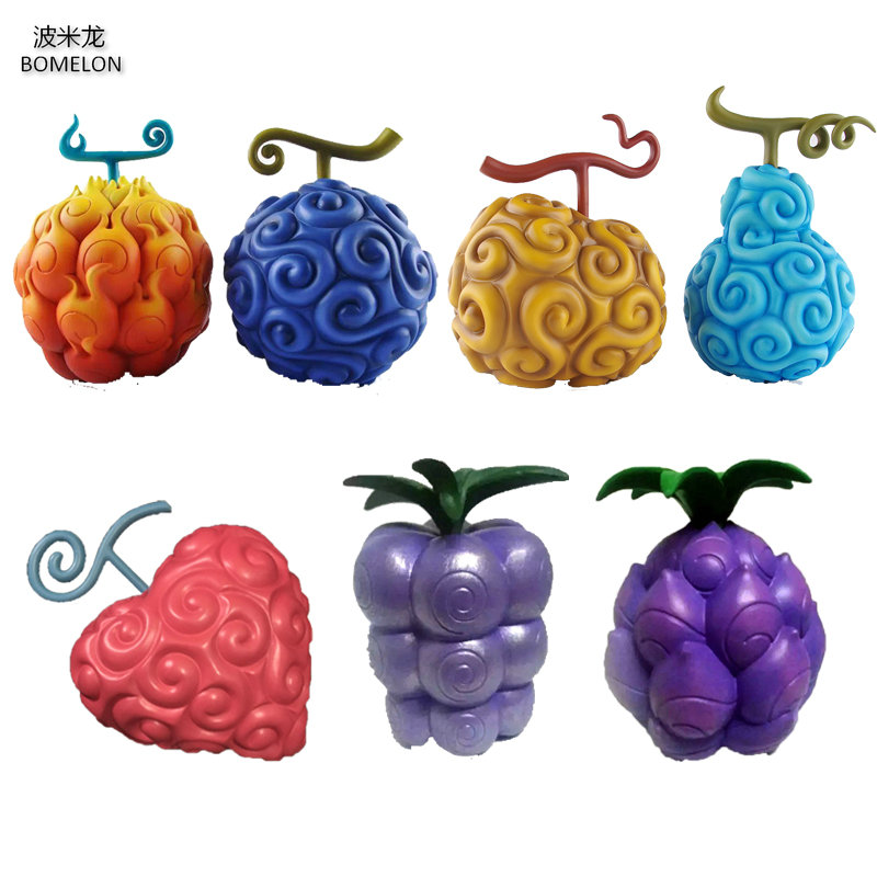 One Piece Devil Fruit Series Mera-Mera/Gum-Gum/Human-Human/Earthquake Seismic/Operation/Revive-Revive/Chop-Chop Toy Figures<br>