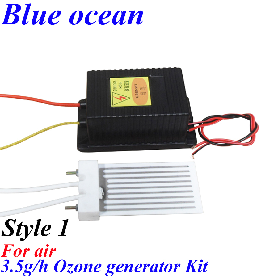 BO-2203PWAM-B, AC220V/AC110V 3.5g/h Ceramic plate type ozone generator Ozone ceramic plate + power<br>