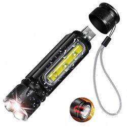 Водонепроницаемая перезаряжаемая Светодиодная лампа фонарь Рабочий фонарь 4 режима освещения поддержка зума используется для кемпинга, ез...