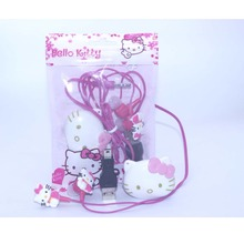 High Quality Mini Hello Kitty MP3 Music Player Clip MP3 Players Support TF Card With Hello KItty Earphone&Mini USB