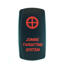High Quality 5 Pin Laser Backlit Red Rocker Toggle Switch ZOMBIE TARGETING SYSTEM 20A 12V On/off LED Light Wholesale [KG-036-2]