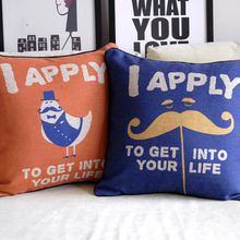 Super Quality Special Miss Mr I Happy To Get Into Your Life Wedding Cafe Car Home Cafe Decoration Cushion Pillow Cover Gift