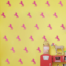 Cartoon Unicorn Stickers Decorative Home Wall Stickers Bed Rooms Livingroom Wall Art Decals