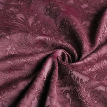 Vintage Flowers Jacquard Cotton Polyester Material Sofa Upholstery Fabric Deep Burgundy(China)