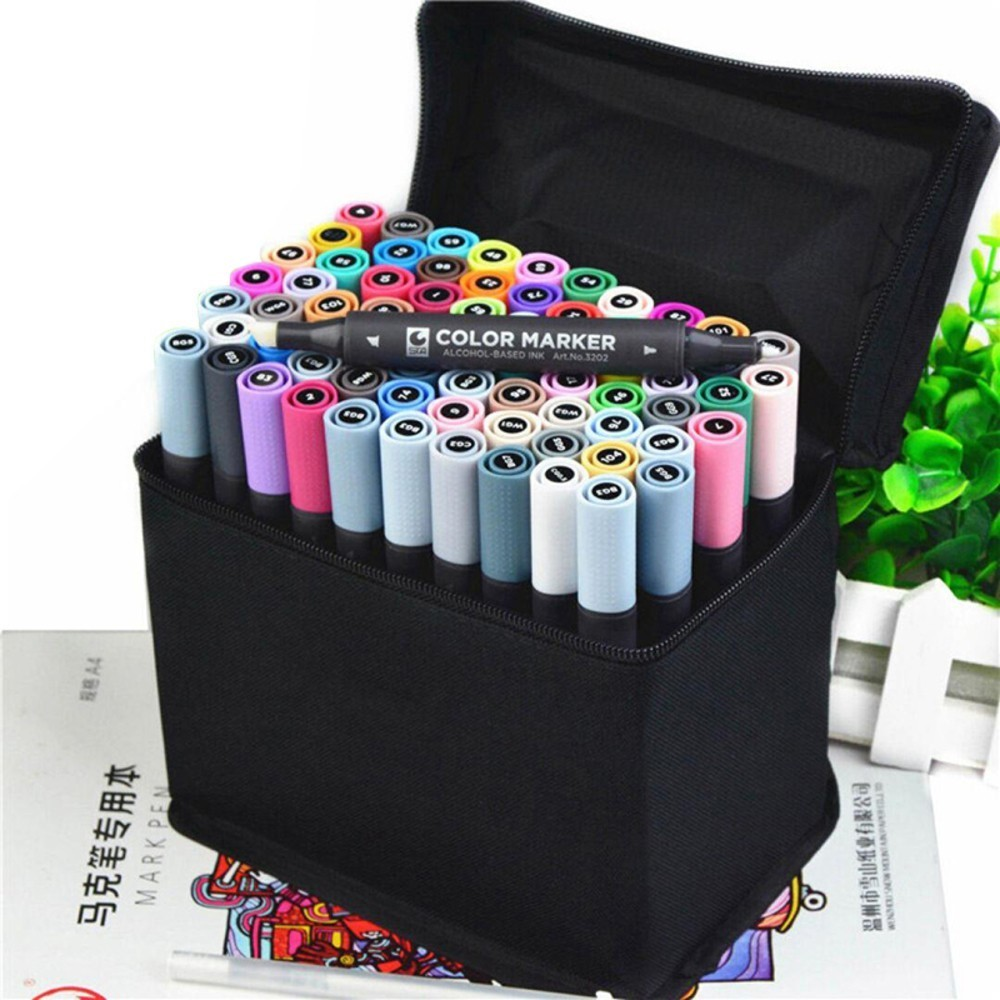 STA Art Marker 30/36/40/48 Alcoholic oily based ink Marker Set Dual Headed Art Sketch Marker For Manga drawing School Supplies<br>