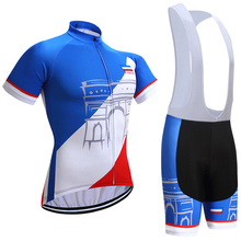 2018 Tour France Team cycling jersey bibs shorts set sobycle cycling shirts bottoms mens summer quick-dry mountain bike wear(China)