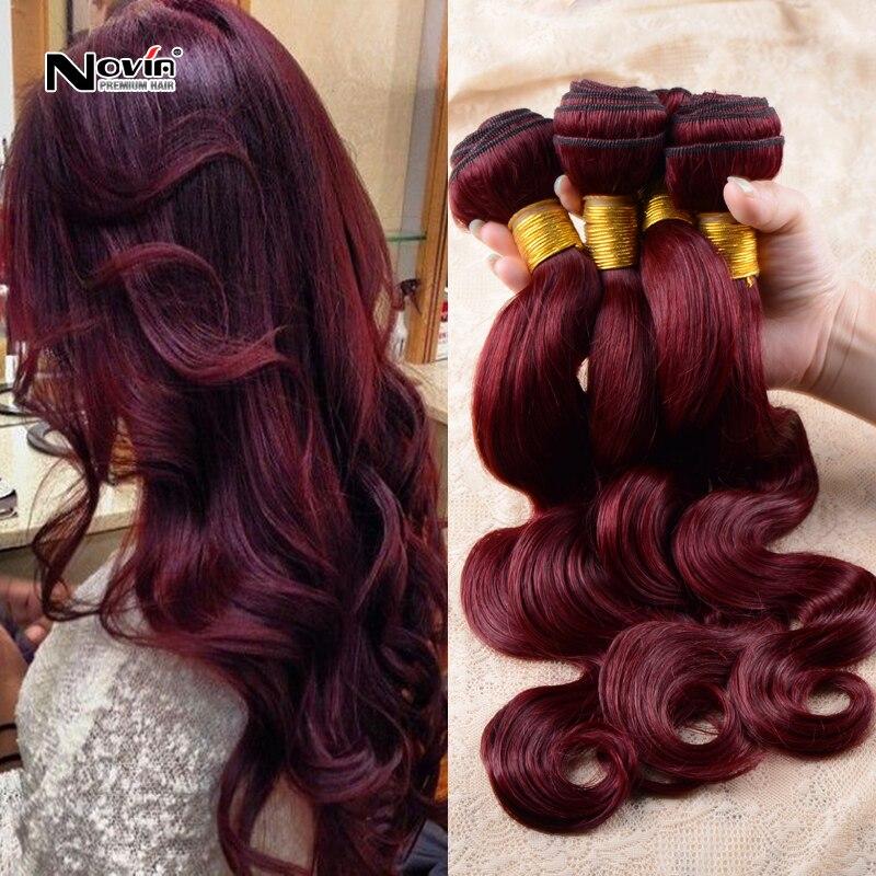 Bela dream hair 99j 3 bundles of brazilian body wave hair burgundy 100g human hair bundles 8-30inch red wine hair extensions<br><br>Aliexpress